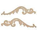Legacy Artisan 17 5/8 Inch Scroll  And Leaf Applique Pair> Van Dyke's Restorers
