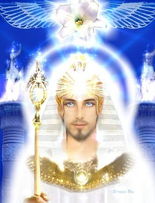 Ascended Master Serapis Bey --Assists with ascension and all forward movement of energies into higher vibrational realms. Works with the crystalline energies of Atlantis awakening this remembering.  Was one of the way-showers that migrated to Egypt after the fall and became a teacher and healer bringing the sacred energy with him ❤tami: