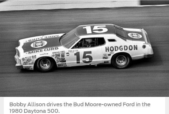 1980 - Bobby Allison; Bud Moore Ford; Daytona 500