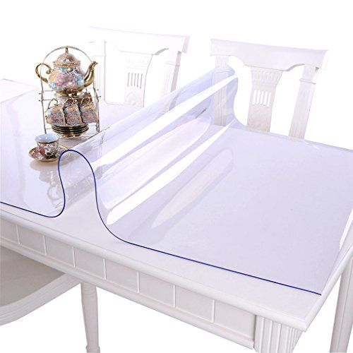 Ipara Clear Pvc Tablecloth Home Hotel Resistant Waterproof Durable Thickness 1mm Table Cover Coffee Table Cover Padded Coffee Table Table Pads