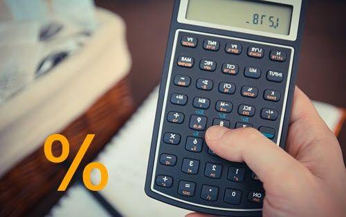 حساب النسبة المئوية بالآلة الحاسبة و Excel و Spreadsheet نسبة مئوية حساب Eb Calc Calculator Electronic Products Math
