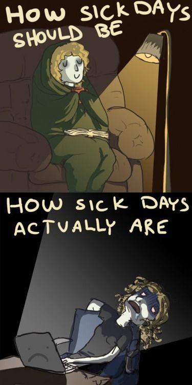 Sick days: expectation vs. reality -