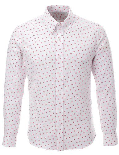 FLATSEVEN Mens Slim Fit Star Pattern Printed Long Sleeve White Casual Shirt (SH213) Pink, M FLATSEVEN http://www.amazon.com/dp/B00KR8X0U2/ref=cm_sw_r_pi_dp_yBolub1YV69QT