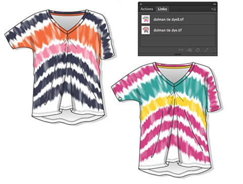 create tie-dye effects in photoshop