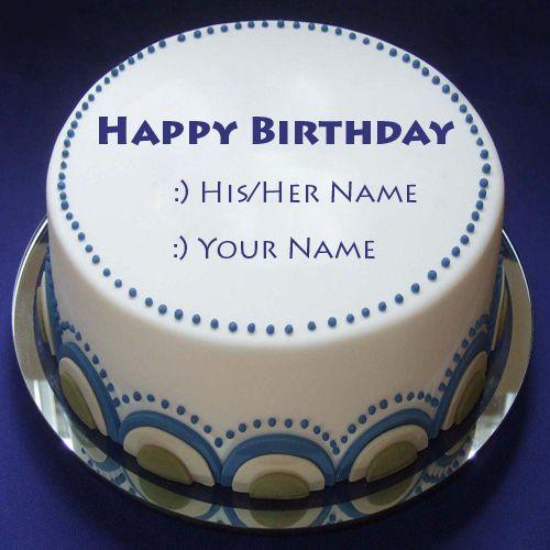 Write Name On Happy Birthday Blue Lagoon Cake.Print Name On Birthday Wish Card Pics.Whatsapp