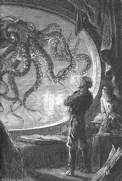 The Illustrated Jules Verne (1866-69) Vingt mille lieues sous les mers  illustrations by Alphonse de Neuville and Édouard Riou:
