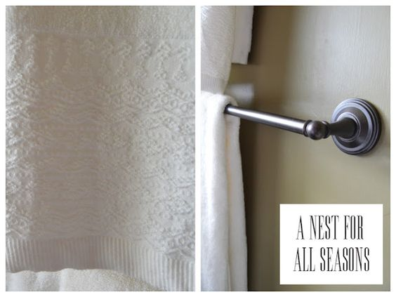 Which cost more?  The towels or the towel rack?  A Nest for All Seasons