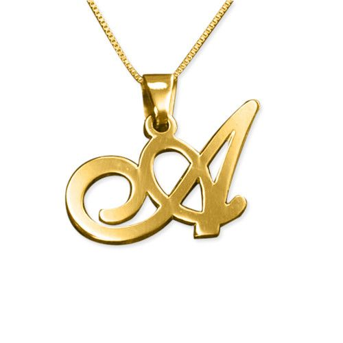 10K Yellow Gold Initial Letter E Charm Pendant from Roy Rose Jewelry