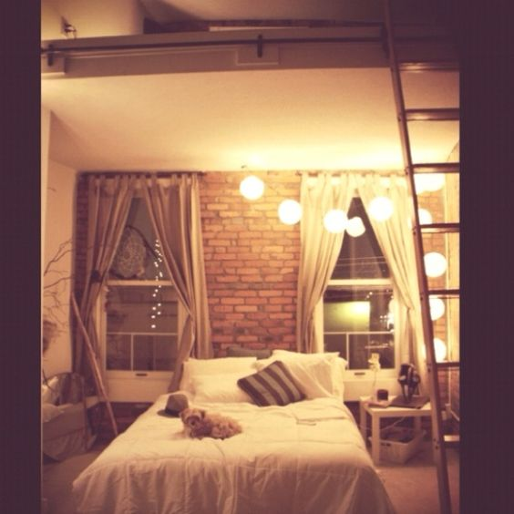 Bedroom Ideas Hgtv Bedroom Desk Design Romantic Bedroom Curtains Bedroom Bay Window Decor: Cozy New York City Loft.