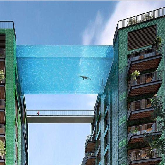 - London sky pool  // Follow @HiGoodLife for more amazing luxury photos!  ͈ @HiGoodLife @HiGoodLife @HiGoodLife @HiGoodLife
