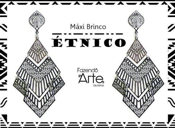 Brinco MARAVILHOSO, com um estilo Étnico poderoso e fica super levinho na orelha!!!! Super prático e rápido de fazer! Gravamos o vídeo do passo-a-passo em 5 minutos.