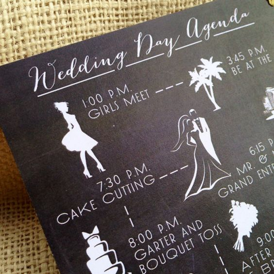 How To Create Your Wedding Timeline (and Three Timeline