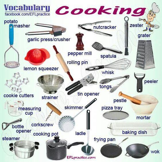 Pinterest le catalogue d 39 id es - Ustensiles de cuisine en anglais ...