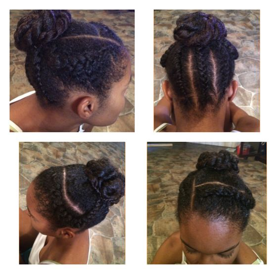 Uploaded using #PhotoGridPro. My daughter Asia braids and twist in a bun