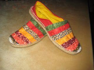 El costurero de Maribel: Zapatillas patchwork