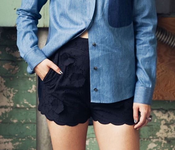 Floral Eyelet Shorts >> Love these!