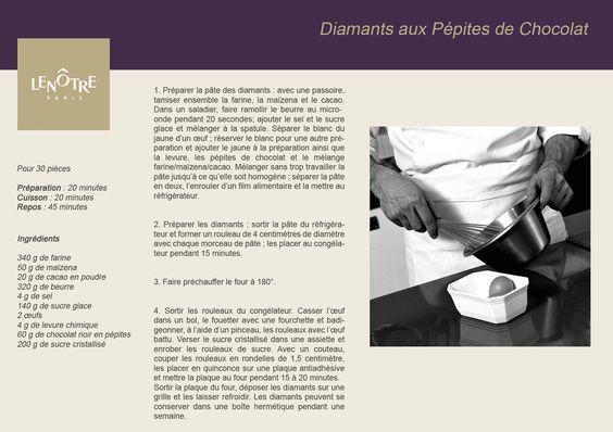 Lenôtre - Diamants aux Pépites de Chocolat www.lenotre.com