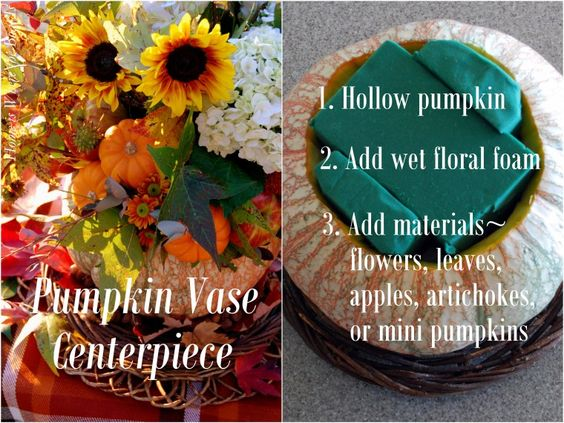 Pumpkin Vase Centerpiece: