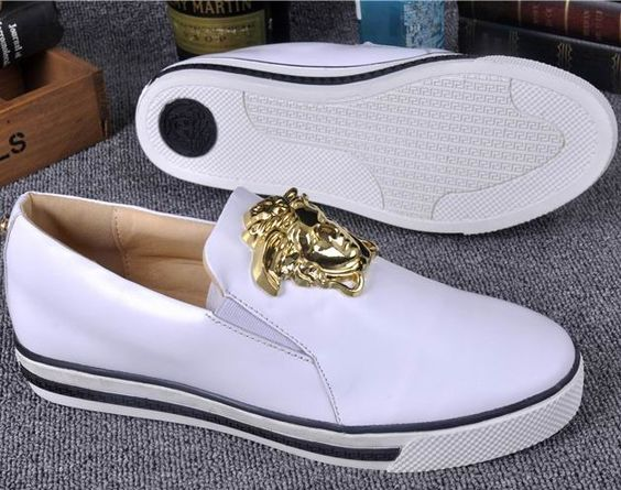 Versace Medusa Leather Shoes White