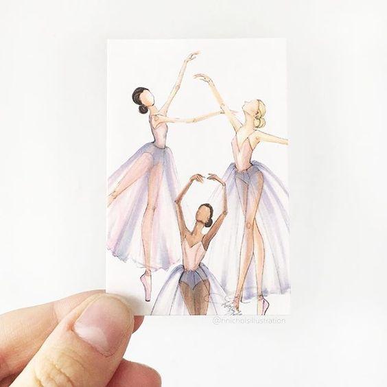 Tiny dancers  #fashionsketch #fashionillustration #fashionillustrator #boston #bostonblogger #bostonillustrator #copic #copicmarkers #copicart #hnicholsillustration #ballet #ballerina