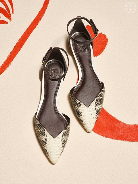 S is for Step into the Week With some fancy footwork — like the d& style  above, crafted from snake-embossed leather. Shop The Shoe Guide