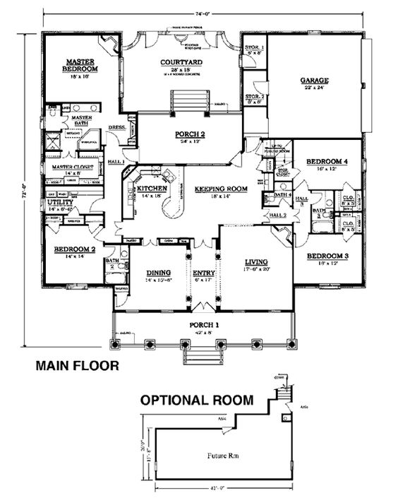 Floor plans colonial house plans and cape cod on pinterest for Cape cod house plans with basement