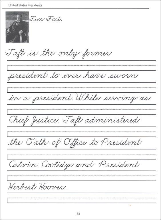 44 United States Presidents Character Writing Worksheets Zaner Bloser Beginning Cursive 008175 Cursive Handwriting Practice Writing Worksheets Cursive Writing D nealian cursive worksheets