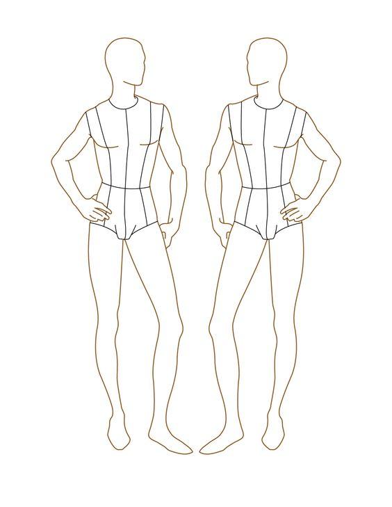 Croqui Fashion Model Templates | Male Fashion Croquis ...