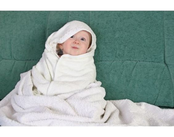 Cutest baby in a towel.