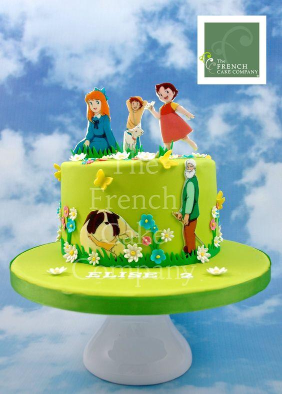 Childrens birthday cake heidi gateau d 39 anniversaire pour enfants bebe heidi - Gateau pour bebe 1 an ...