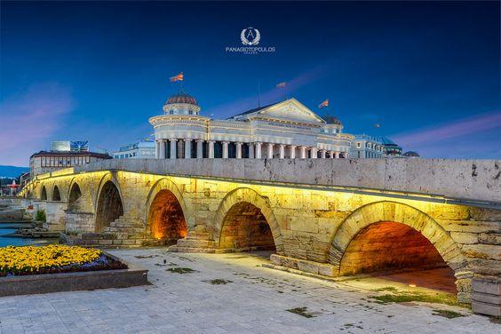 Old stone bridge of Skopje