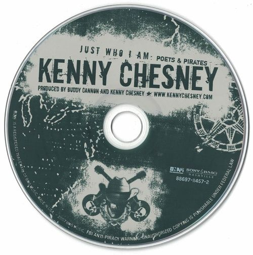 Kenny Chesney Just Who I Am: Poets & Pirates 2007 CD Professionally Cleaned