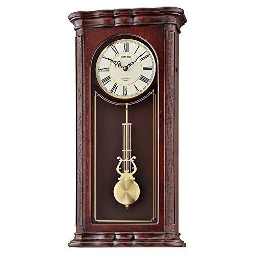 Seiko Wall Musical Wood Shelf Clock Color Dark Brown Best Offer Ineedthebestoffer Com Pendulum Wall Clock Wall Clock Classic Wall Clock