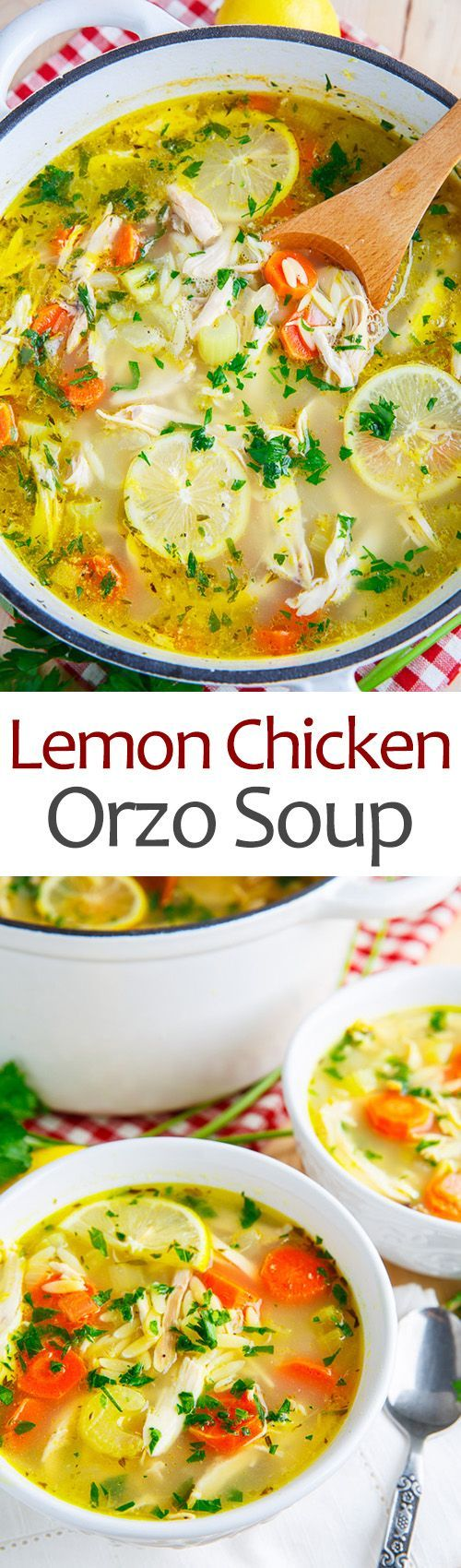 Lemon chicken orzo soup, Chicken orzo soup and Chicken orzo on ...