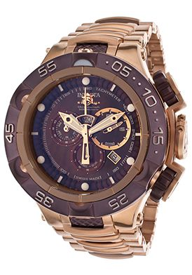 Men's Subaqua Chronograph Two-Tone Steel Brown MOP Dial