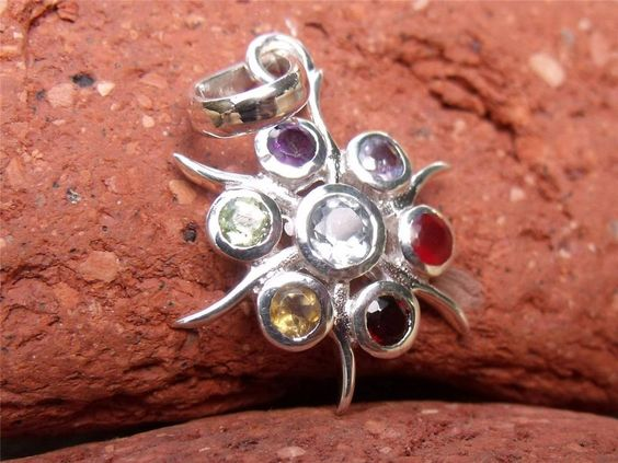 CHAKRA SILVER PENDANT 925 SILVER HANDCRAFTED JEWELLERY SILVERANDSOUL