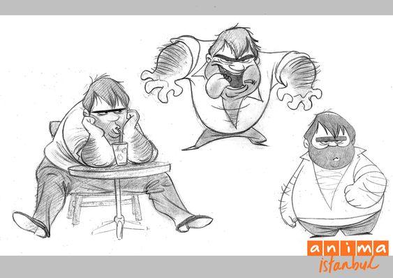 Recep Ivedik Ahmet Tabak Character Design Animation Studio Movie Characters