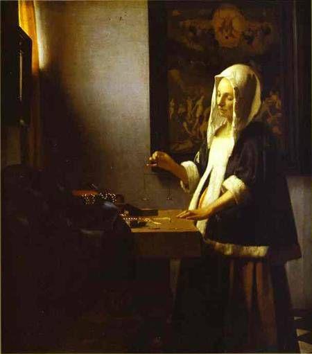 Woman Weighing Pearls 1662-1664, Johannes Vermeer, National Gallery of Art, Washington, DC