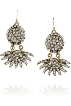 Lulu Frost pavé sunburst crystal earrings
