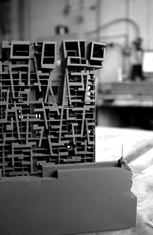 Morphosis Model Bjorn Buckley: Herald-Examiner Tower - Model