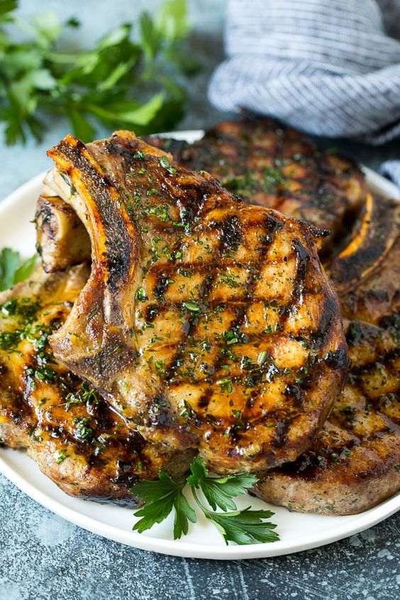 Grilled Pork Chops with Marinade