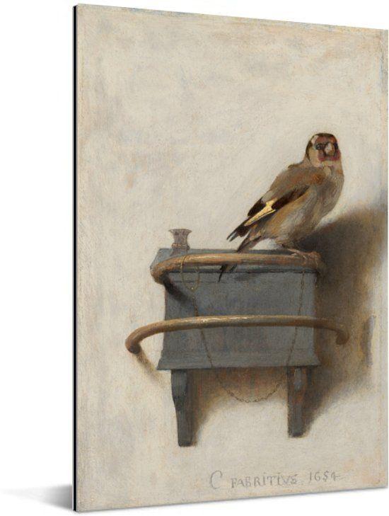 Het Puttertje Schilderij Van Carel Fabritius Aluminium 60x90 Cm Foto Print Op Canvas Schilderij Canvas Schilderij