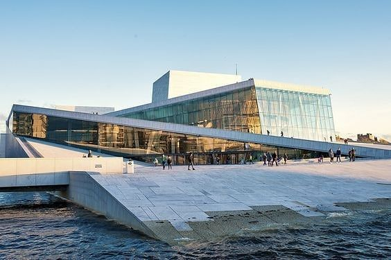 Oslo Opera House At Sunset Aiai Beautiful Norge Norwegian