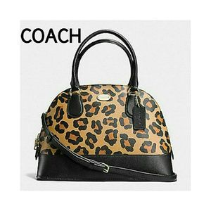 Coach Handbags - HPCOACH OCELOT MINI CORA DOME SATCHEL