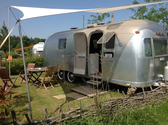 An Airstream caravan, retro camping at its best!