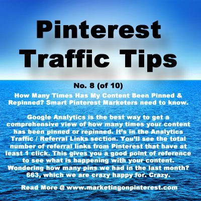 How many times has my content been pinned & repinned? You cannot tell inside of Pinterest. Here is a tip for how to discover this critical data...