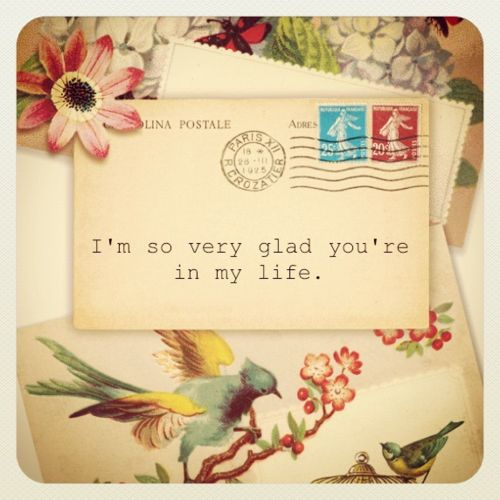 Letters to send ~ Let people know what they mean to you.