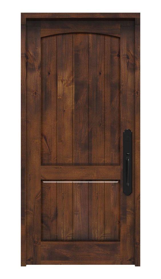 Rustica Hardware Stronghold Exterior Slab Door In 2021 Rustic Front Door Exterior Front Doors Spanish Doors