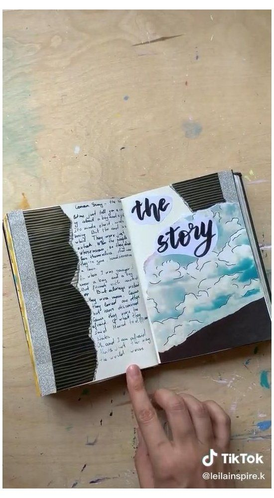 Leilainspire On Tiktok Art Journal Inspiration Ideas Sketchbooks Beautiful Artjourna In 2021 Scrapbook Journal Bullet Journal Lettering Ideas Bullet Journal Art