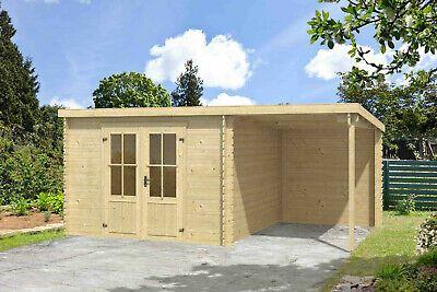 28 Mm Gartenhaus Mit Anbau Geratehaus Blockhaus Holzhaus Holz Schleppdach Neu Gunstig Kaufen Ebay In 2021 Gartenhaus Gartenhutte Anbau